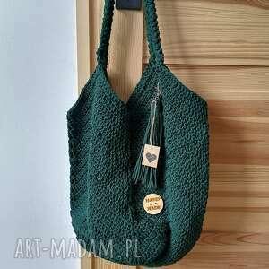 Sznurkowa torba na ramię the wool art torba, torebka, sznurek