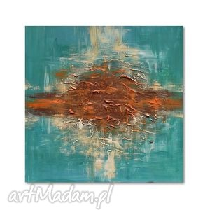 abstrakcja, obraz ręcznie malowany