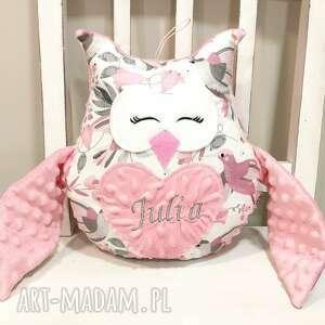 pokoik dziecka personalizowana sowa, poduszka z imieniem dziecka, metryczka