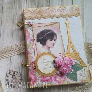 Prezent Retro sekretnik/ pamiętnik, styl, paryski, ladies, róże,