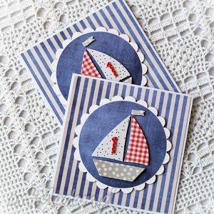 kartka dla małego marynarza - kartka, urodziny, dziecko, marynarska