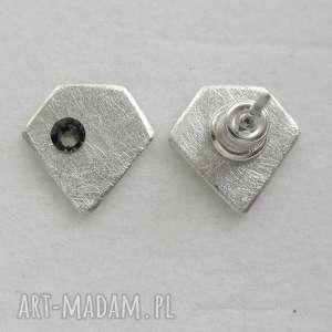 DIAMENT kolczyki, srebro, swarovski, diament