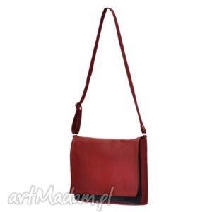 hand-made teczki 35-0001 czerwona torebka aktówka damska robin
