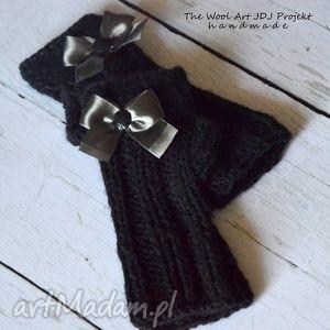 mitenki - rękawiczki, czarne, nadrutach, mitenki, prezent, nazimę