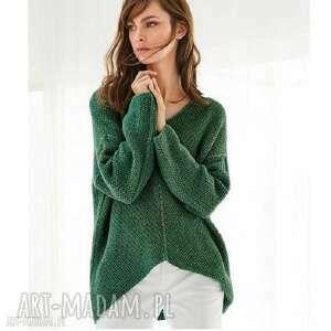 sweter lukka, dziergany, merino, prezent, kobiecy pullower