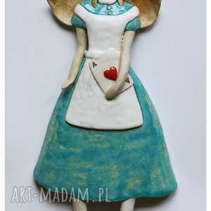 Anioł z asem, ceramika, anioł, karta
