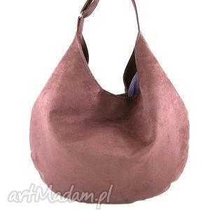 hobo purple - torebka, hobo, wygodna, pojemna na rami 281