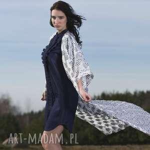 unikalne, sukienka furiru blu, sukienka, jeans, dżins, zakładki, falbanki