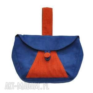 04-0001 Niebieska torebka kopertówka elegancka do ręki CUCKOO, damskie-kopertówki