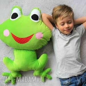 poduszka dziecięca żaba, żaba minky, dekoracyjna