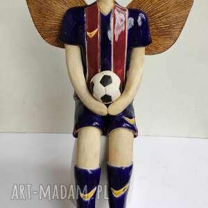 anioł piłkarz fc barcelony, ceramika, anioł, piłkarz, piłka, sport, mundial