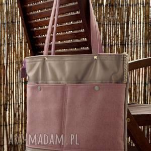 torba na ramię, torba, pikowana, pastele, prezent, xl
