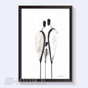 ilustracjaczarno-biała wykonana ręcznie, plaka miłość, abstrakcja minimalizm