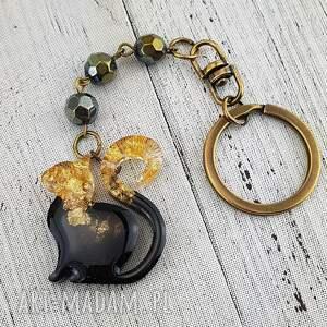 mela art 1286/mela - brelok do kluczy z żywicy, kot, brelok, kluczy, żywica