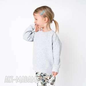 bluza dresowa szara, basic, gładka, bawełniana