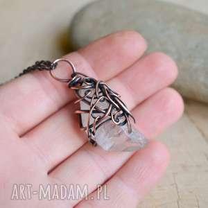 naszyjniki crystal raw - naszyjnik z wisiorem, kryształ górski