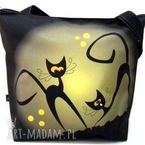 Torba na zamek z motywem kotów ramię gaul designs xxl, koty