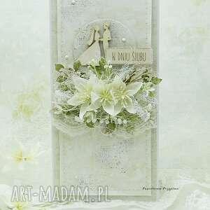 kartka ślubna z młodą parą vol 5 w pudełku, ślub, ślubna, prezent na ślub