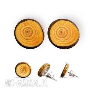 Drewniane kolczyki sztyfty dla wielbicieli lasu my piece of wood