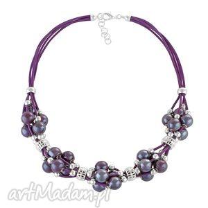 grapes - violet - rzemień, ceramika