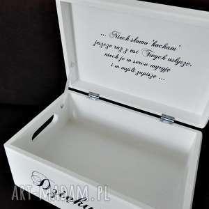 ślubne pudełko na koperty personalizowane cytat, pudełkonakoperty, ślub, wesele