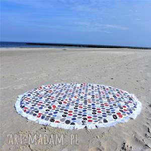 dwustronna mata koc dywanik 150 cm morski, mata, recznik, kocyk, pokój, dekoracja