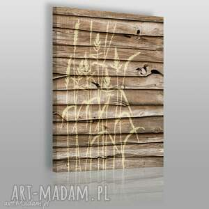 obrazy obraz na płótnie - drewno natura 50x70 cm 09902 , dekoracja, natura, zboże