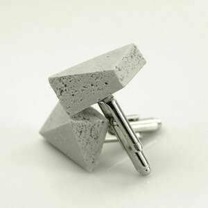 INGRAY - męskie spinki do mankietów, minimalistyczny beton, dla niego, ekstrawagancki