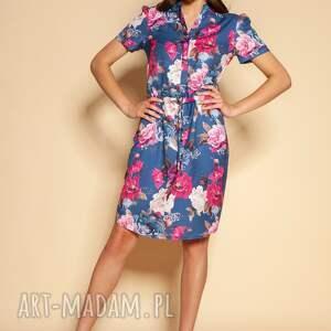 sukienki sukienka z krótkim rękawem - suk196 kwiaty