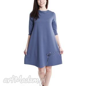 tuniki blue dandelion, sukienka, dresówka, tunika, niebieska