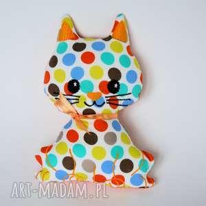 Kotek Psotek - Teo 19 cm, kot, kolorowy, maskotka, przytulanka, niemowlę, wielkanoc