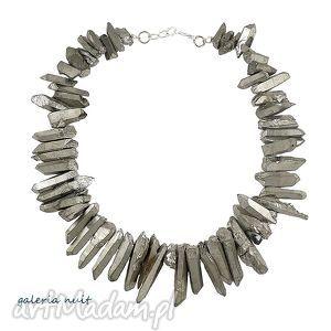 Tytanowe sople, tytan, tytanowany, kryształ, nieregularny, srebrzysty, sople