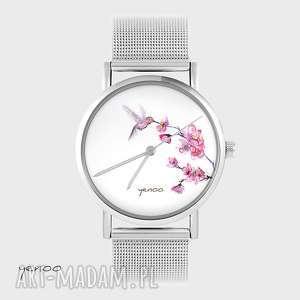 hand made zegarki zegarek, bransoletka - koliber metalowy