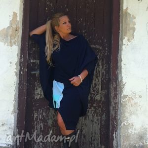 ręcznie zrobione sukienki blue set komplet