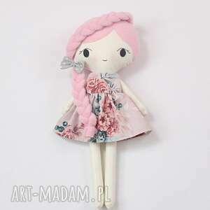 Lalka przytulanka lila, 45 cm lalki patchworkmoda lala, handmade