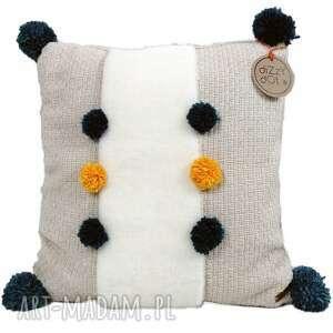 dizzydot poduszka dekoracyjna z pomponami bonita, dekoracyjna