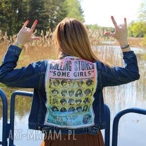 kurtka rolling stones sm - rolling-stones, rock, koncert, festiwal, kurtka, dżinsowa