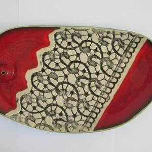 dekoracje talerzyk na kadzidełko czerwony, aromaterapia, podstawka