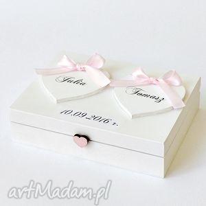 Pudełko na obrączki ślubne Romantyczne, pudełkonaobrączki, pudełkanaobrączki, ślub