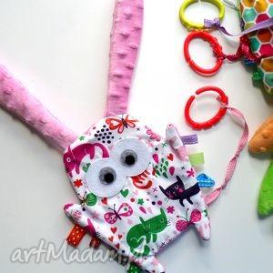 ręcznie zrobione zabawki uszak metkowiec kotki