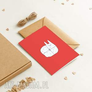 ekologiczna kartka okolicznościowa urodzinowa / dla dzieci present, minimalizm