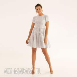 sukienka 12/ss/2021, kropki, groszki, bawełna, letnia, lekka, zwiewna