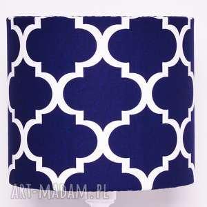 Abażur FRESH NAVY BLUE 25x25x22cm od majunto, koniczyna, koniczyna-marokańska