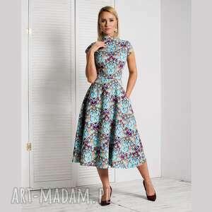 Sukienka sari total midi turkesa sukienki livia clue sukienka