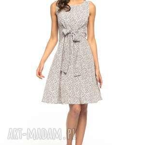 Letnia sukienka wiązana, T281, łączka kolorowych kwiatków, letnia, sukienka, wiązana