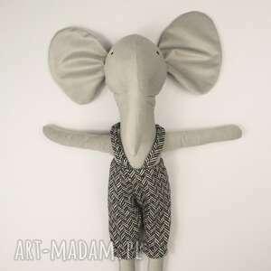 zabawki słoń józio, lalka, przytulanka, ubranka dla lalki, chłopca, piękna