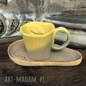 ceramika filiżanka spodek, artystyczna, rękodzieło, dla domu