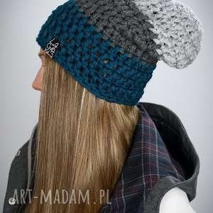 handmade czapki czapka triquence 21 - morska