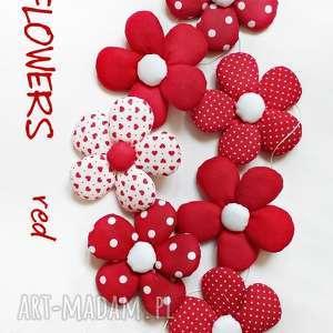 pokoik dziecka flowers - girlanda wersja red, girlanda, kwiat, kwiatek, flowers