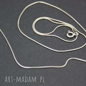 łańcuszek srebrny, naszyjnik, łańcuszek, żmijka, ciemny, podwisiory
